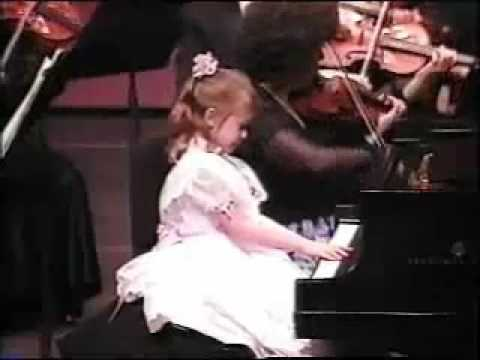 Nomi Abadi age 5 with the Orange County Chamber Orchestra