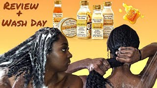 NEW Creme Of Nature: Pure Honey Product (Honest) REVIEW + WASH DAY | alexuscrown