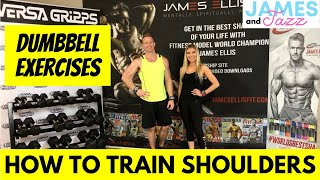 How To Train Full Shoulders || Dumbbell Exercises || Exercise Demonstrations || Deltoid Muscles