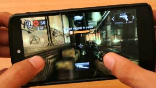 Nexus 5 Android L Dead Trigger 2 Gameplay Test