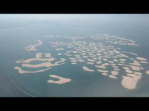 The World Islands, Dubai.                 Plane view