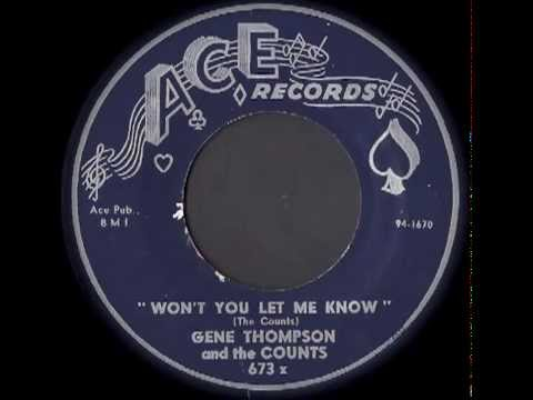 ★★ Gene Thompson and the Counts   Won't You Let Me Know ★★
