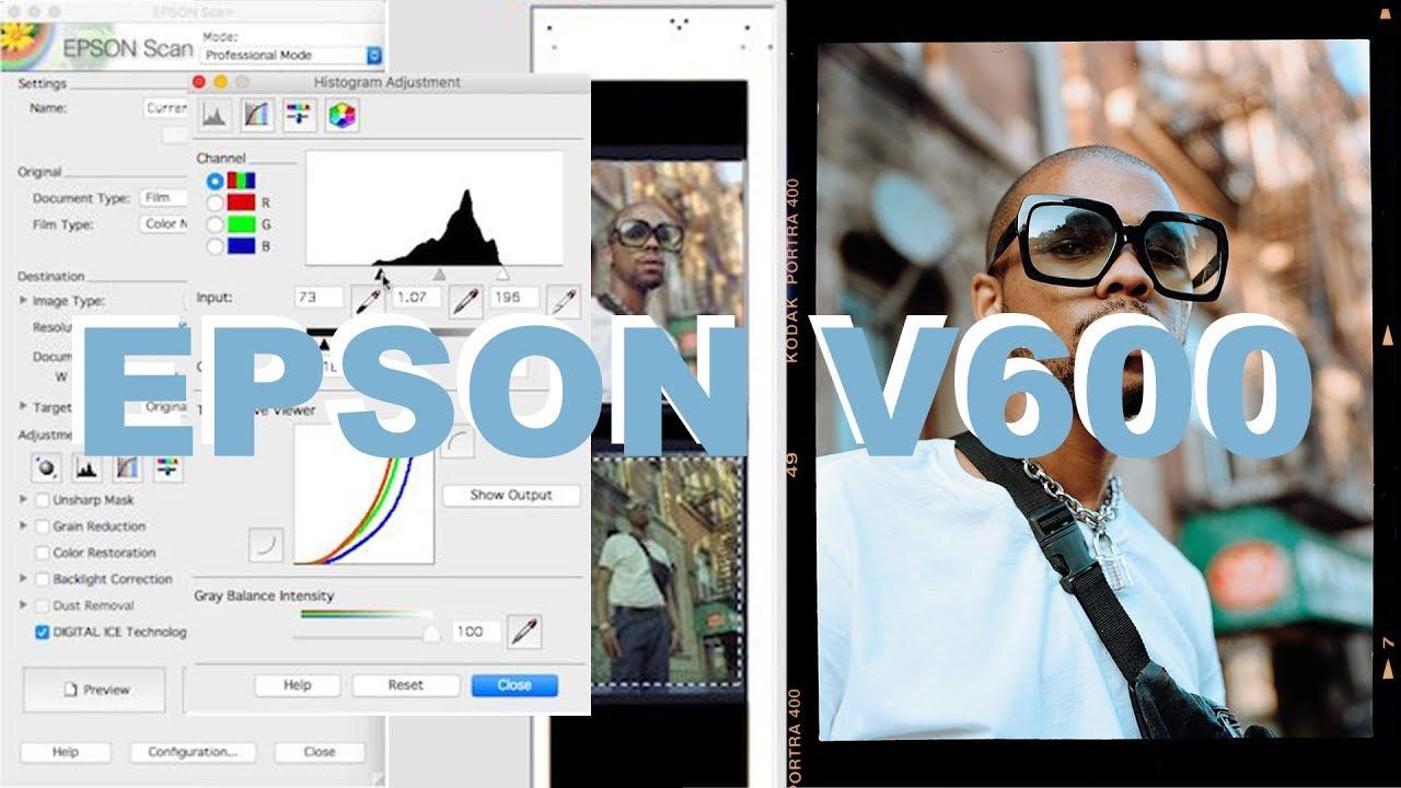 How I Edit and Scan Color Negative Film - Epson V600