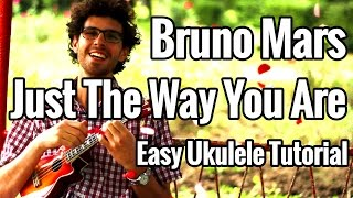 Just The Way You Are - Ukulele Tutorial + Voice Match - Bruno Mars