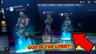 Fortnite battle Royale Glitch (New) Hold gun in lobby PS4/Xbox one 2018