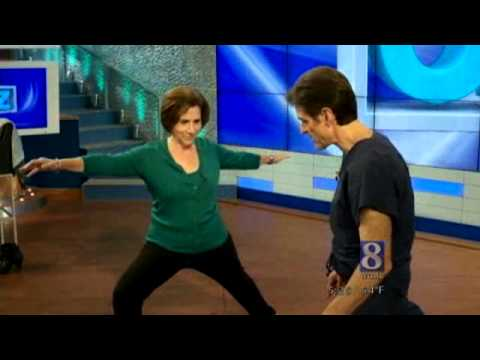 Dr. Oz Shows Susan Shapiro Yoga Moves