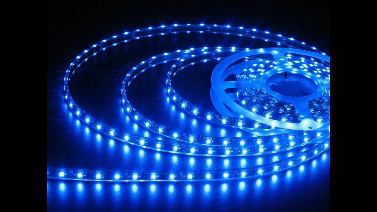 Blue led youtube for Moonlight iluminacion