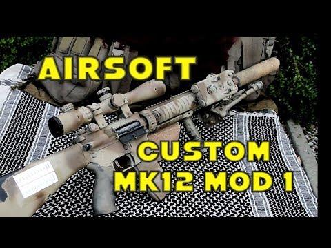 Airsoft MK12 MOD 1 Custom SPR LONE SURVIVOR Style