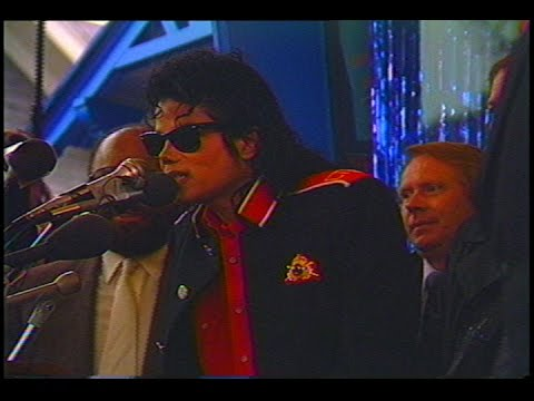 Michael Jackson Visits Motown Museum and Detroit Grand Prix Press Conference (1989)