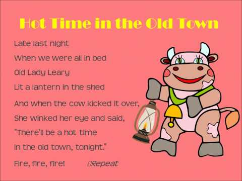 Ms. Adams sings Hot Time in the Old Town