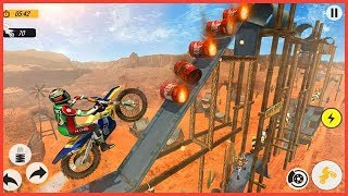 Moto Bike Racing Stunt Master 2019 :Mobile Gameplay Walkthrough LVL 1-10
