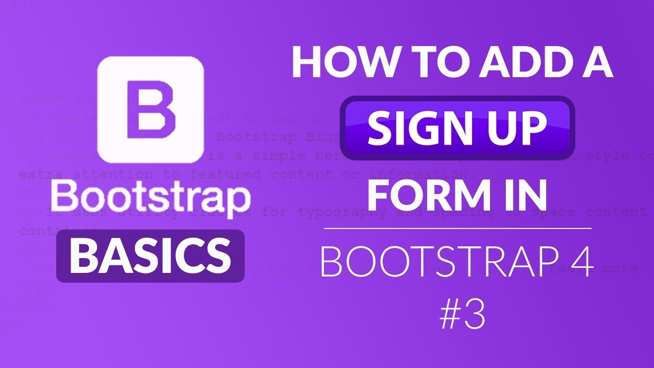 Bootstrap 4 basics how to add a sign up form in bootstrap 4 3 bootstrap 4 basics how to add a sign up form in bootstrap 4 3 falaconquin