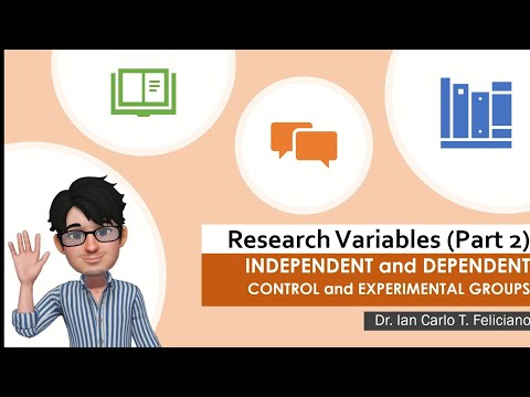 Practical Research 2 |  INDEPENDENT and DEPENDENT Variables | CONTROL and EXPERIMENTAL Groups