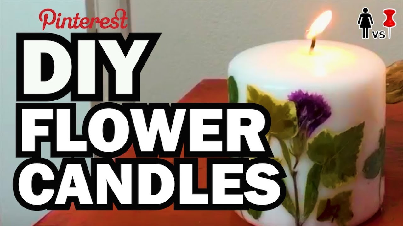 Diy Candles Diy Pressed Flower Candles Corinne Vs Pin 26 Youtube