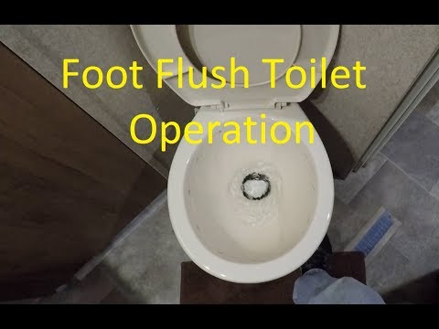Foot Flush RV Toilet Operation - Keep the Odor Out