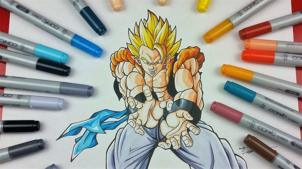 drawing super gogeta kamehameha tolgart youtube
