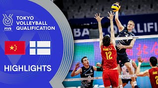 CHINA vs. FINLAND - Highlights Men | Volleyball Olympic Qualification 2019