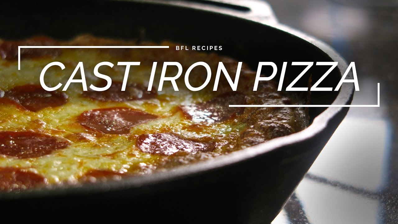 Cast Iron Pizza | How to Make Deep Dish Pizza - YouTube