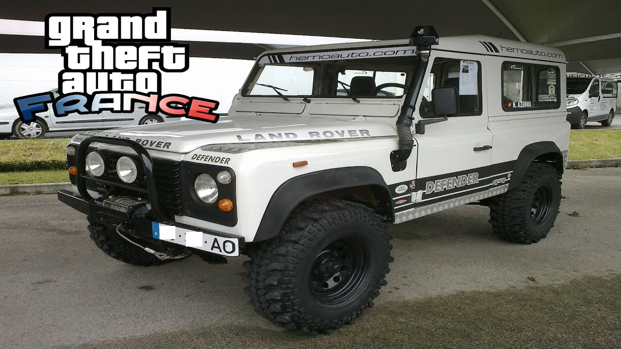 gta france best offroad suv in world land rover defender 110 youtube. Black Bedroom Furniture Sets. Home Design Ideas