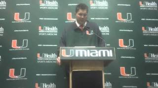 Al Golden Postgame Press Conference: Virginia Tech