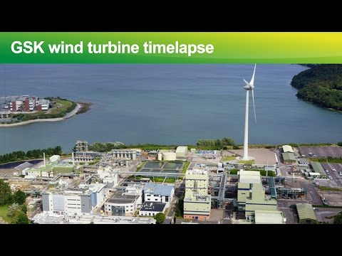 Timelapse of GSK wind turbine construction in Cork, Ireland