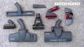 Мощный пылесос REDMOND RV-308 с 8 насадками для идеальной уборки