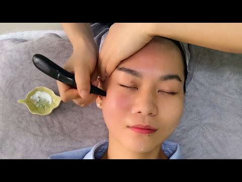 ASMR 중국 고법 얼굴 스파 + 두피 마사지