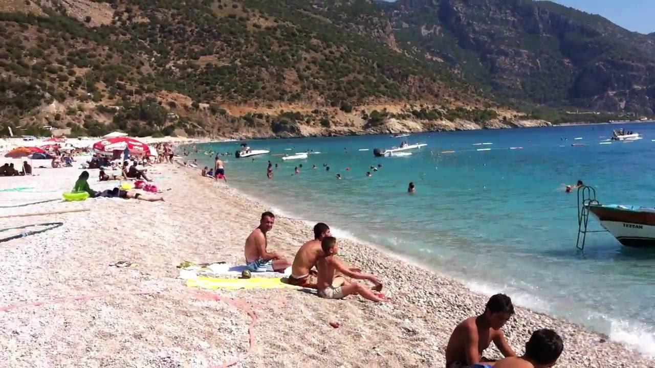 Oludeniz Beach Fethiye Turkey View Of The Beautiful Turquoise Blue Sea