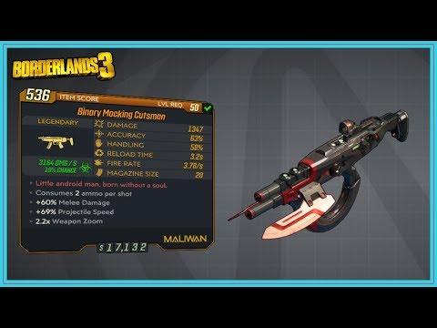 Cutsman Overview | Borderlands 3 | Legendary SMG