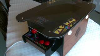 Mame pc, pacman cocktail arcade machine cabinet, mini replica