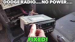 Dodge Neon radio NO power Issue....Fixed!