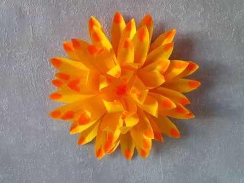Tutorial: Papier Dahlien selber machen. Blumen basteln super einfach ...
