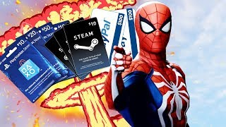 Free PSN Cards For Spider-Man PS4, Steam Codes With AppNana