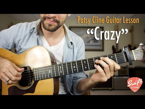 "How To Play ""Crazy"" On Guitar - Patsy Cline, Willie Nelson Tutorial"