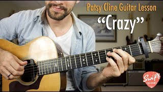 How to Play Crazy on Guitar - Patsy Cline, Willie Nelson Tutorial