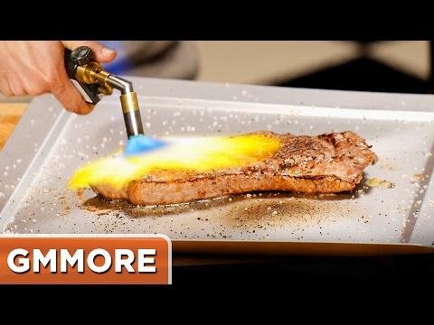 Cooking a Steak w/ a Blowtorch