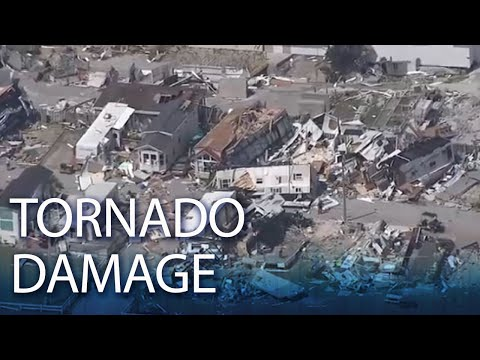 Aerial Video Over Tornado Damage In Emerald Isle, NC