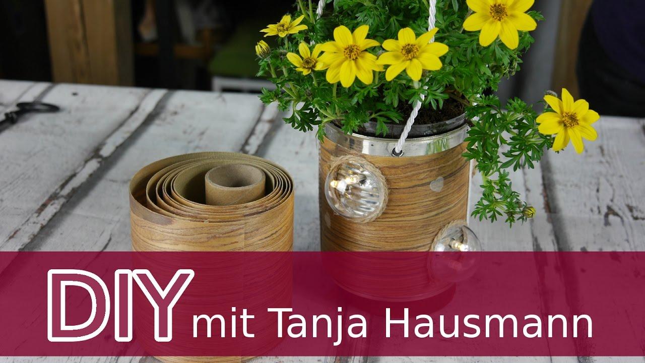 Diy Anleitung Blumenampel Beleuchtet Mit Furnierstoff Selbermachen
