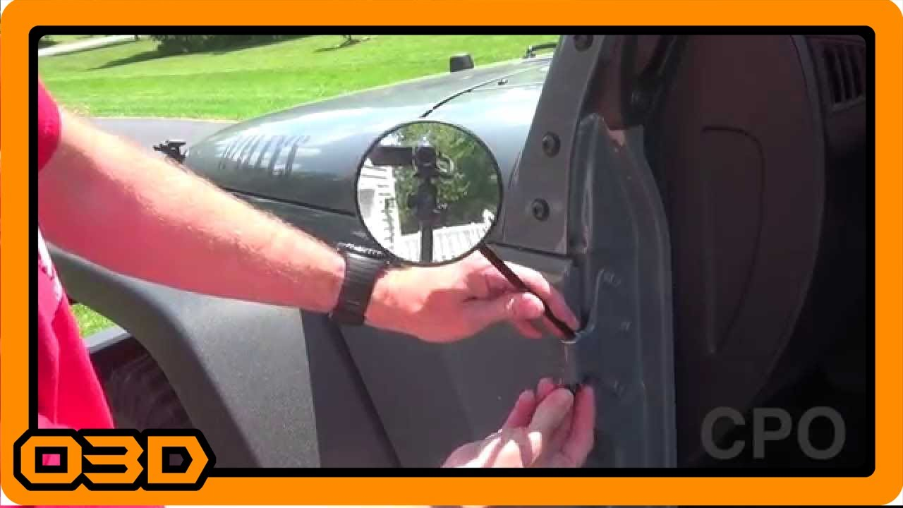 Jeep Wrangler Doors Off Mirror Motorcycle On Hinge Youtube