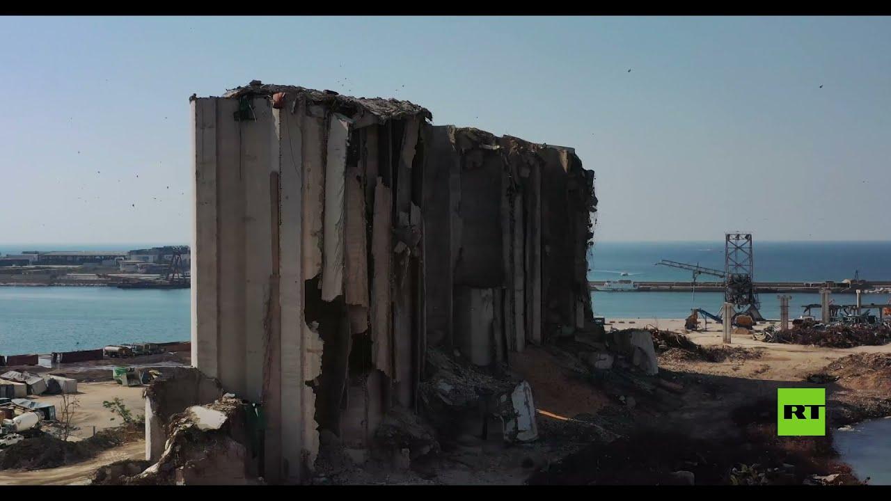 مشاهد جوية لمرفأ بيروت بعد عام على الانفجار