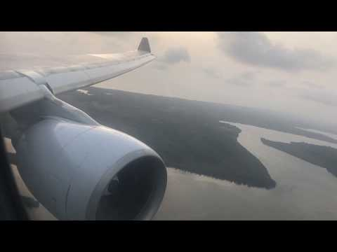 Brussels Airlines A330-200 landing & taxi to gate in Monrovia, Liberia (ROB)