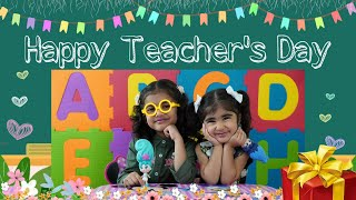 Maanya & Pucchu   ABCD Song   Teacher Day   Nursery Rhymes   Alphabets   Kids Song   Blume Dolls