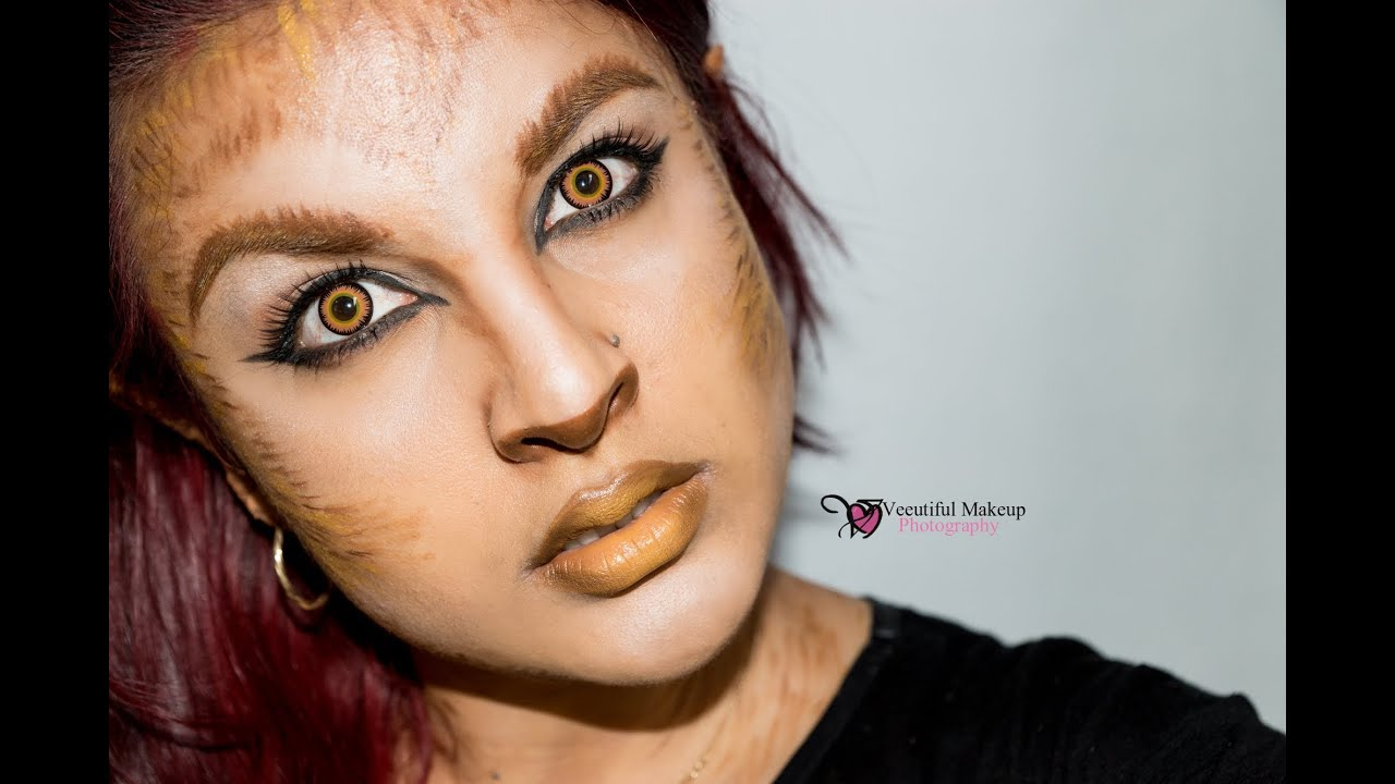 HALLOWEEN WEREWOLF MAKEUP TUTORIAL, SHEWOLF MAKEUP - YouTube