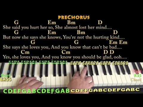 She Loves You (Beatles) Piano Cover Lesson with Chords/Lyrics