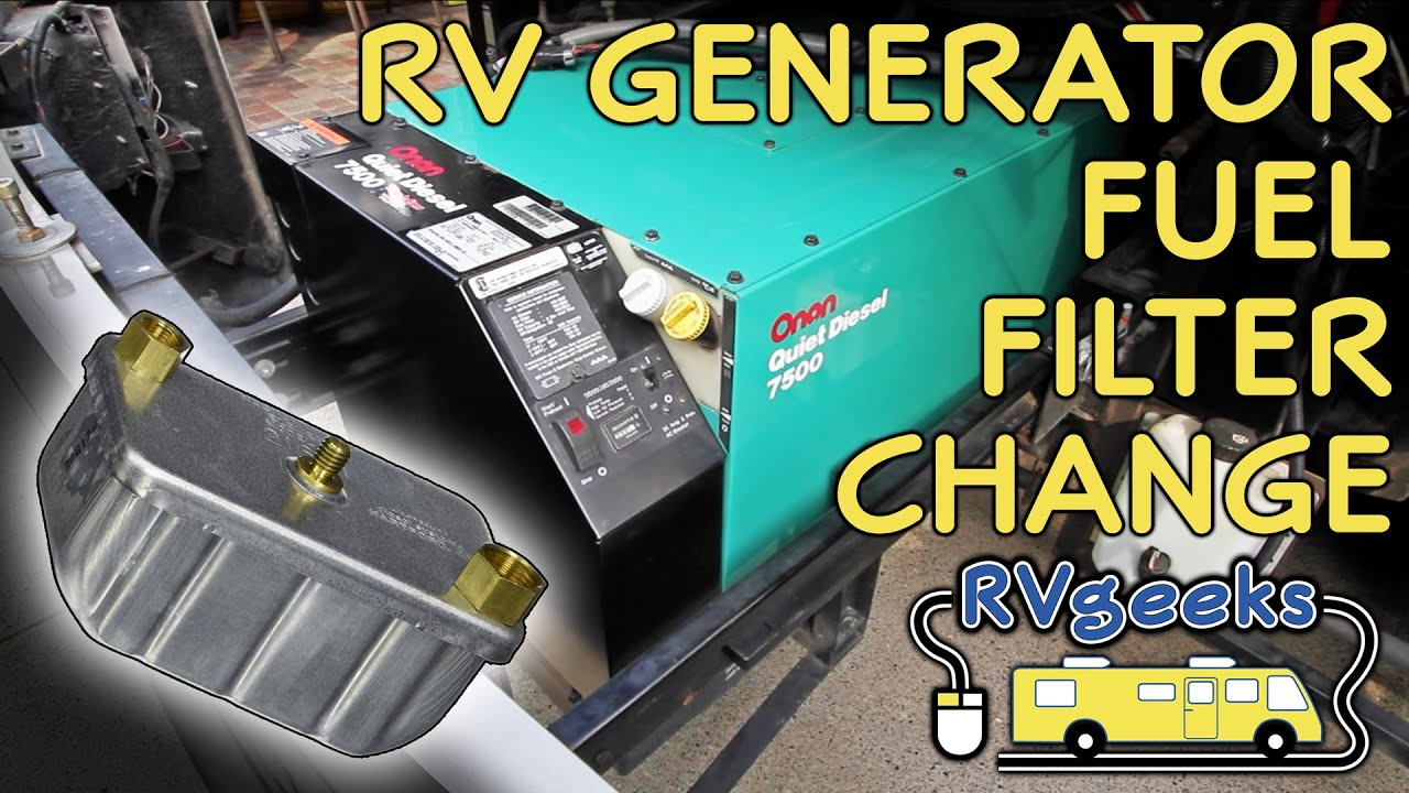 onan rv generator fuel filter replacement youtube rh youtube com Onan Generator Parts Lookup Onan Generator Service