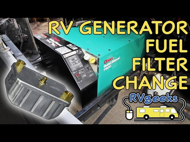 Replacing The Fuel Filter On An Onan Quiet Diesel Generator