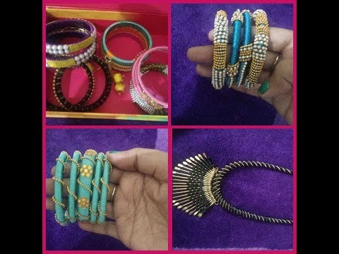 my part 2 silk thread  jewelry collection/diy/telugu