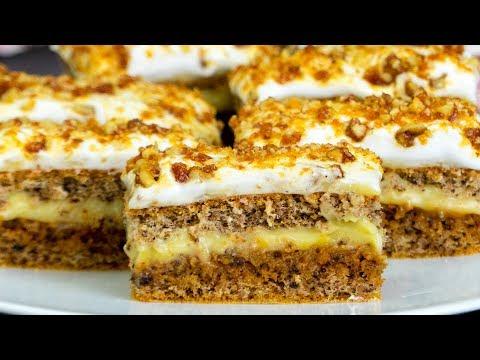 Aceasta Este Una Dintre Cele Mai Bune Prajituri De Casă : Prăjitură Cu Nucă și Krantz! | SavurosTV