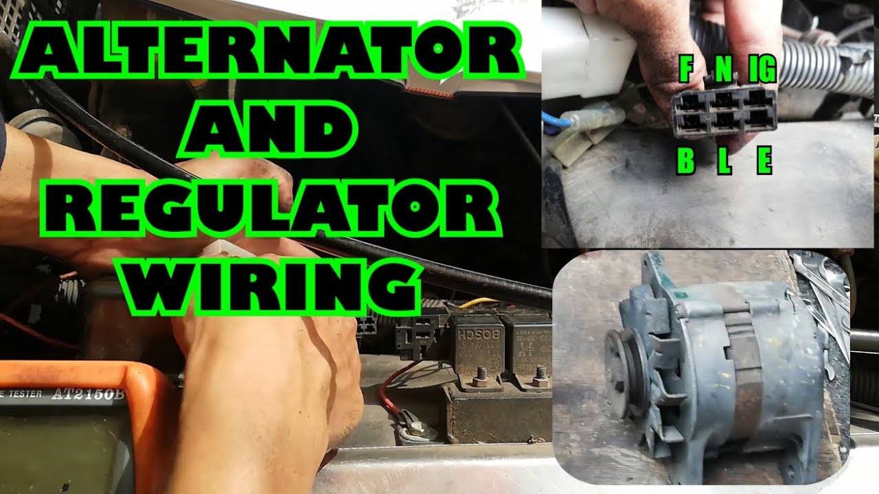 How To Wire Voltage Regulator To Alternator How To Replace Alternator Youtube