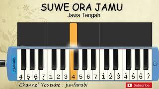not pianika suwe ora jamu - lagu daerah tradisional indonesia - belajar pianika not angka